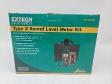 Extech 407732 Kit Low High Range Sound Level Meter Kit Brand New