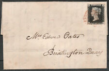 1840 SG2 1d BLACK PLATE 6 RED LEEDS MALTESE CROSS TO BRIDLINGTON QUAY (GK)