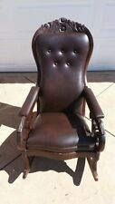 1800s Newly Reupholstered Victorian Rocking Chair