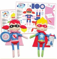 SUPER HERO DOLL PANEL SET * MODA * NEW * 2 PANELS INCLUDED * FREE POST *