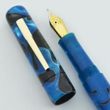 Peyton Street Pens Zayante Fountain Pen - Blue & Black Acrylic. JoWo Nibs (New)