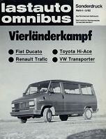 Fiat Ducato Sonderdruck 1982 Lastauto Omnibus VW Bulli Renault Trafic Toyota