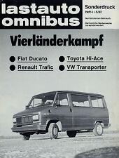 Sonderdruck Lastauto Omnibus 1982 Fiat Ducato VW Bulli Renault Trafic Toyota Hi-