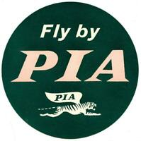 Vintage PAKISTAN International Airlines Luggage Label PIA Middle East