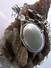 925 Sterling Silver 4 mm Cabochon Moonstone Locket H2O Just Add Water Pendant
