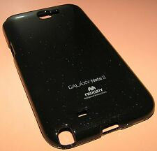 Mercury Color Jelly Case for Samsung Galaxy Note II, high gloss Black, NEW