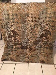 VGUC-HTF-RARE-Croscill Roena Jacquard King Comforter