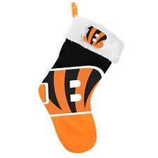 "Cincinnati Bengals Christmas Stocking Holiday 17"" Team Big Logo New Color 2018"