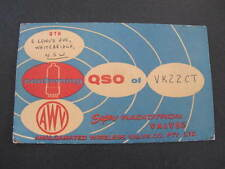 QSL Radio Card Advertising AWV Radio Valves Postcard