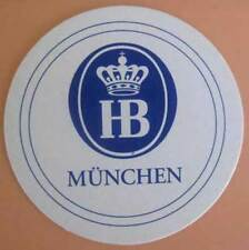 HOFBRAU MUNCHEN foreign beer COASTER, Mat with Crown above HB, Munich, GERMANY