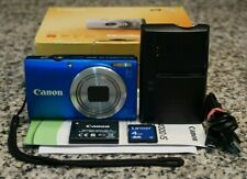 Canon PowerShot A4000 IS 16MP HD 720p Blue Camera 8x IN BOX W/ Extras 4GB Tested