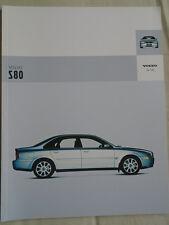 Volvo S80 range brochure Sep 2003