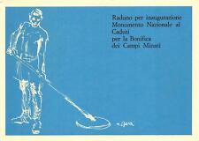 3970) CASTEL BOLOGNESE INAUGURAZIONE MONUMENTO CADUTI BONIFICA CAMPI MINATI