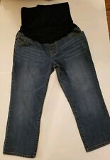 Liz Lange Maternity by Target Cropped Capri Jeans Pants Denim Size 6