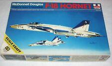 F-18 HORNET~McDonnell Douglas '80's Navy/Marine~Vintage~ESCI~1/72~OB~Sealed Bags