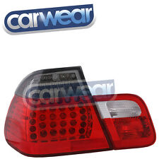 BMW E46 02-05 UPDATE SEDAN LED SMOKE RED TAIL LIGHT REVERSE LIGHTS