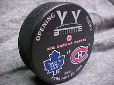 NHL 1999 Air Canada Centre Opening Night Toronto v Montreal Souvenir Hockey Puck