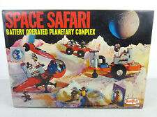 Vtg Outer SPACE SAFARI Battery PLAYSET Toy Alien Monster Astronaut Ship Miniflex