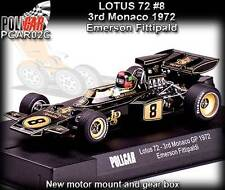 Policar CAR02C Lotus 72 Monaco GP 1972 JPS - use on Scalextric slot car track