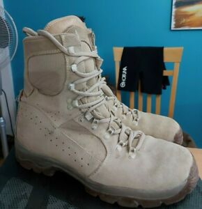 BRITISH ARMY MEINDL DESERT HIGH LIABILITY COMBAT BOOTS - Size UK 9.5 - G1