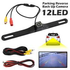 170 ° de visión trasera cámara de marcha atrás HD respaldar Placa de aparcamiento visión nocturna de 12 LED