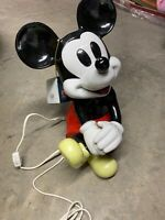 Rare Large Schmid Musical Mickey Mouse Nightlight Ceramic Plays Club March
