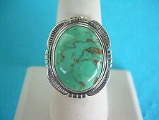 NAVAJO NATIVE AMERICAN TURQUOISE RING SIZE 12 STERLING