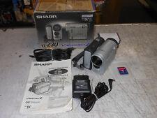 Sharp VL-Z3 Camcorder Video Camera Minicam- Silver works great needs battery