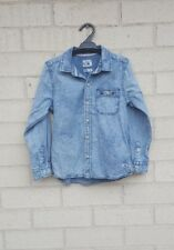 Quiksilver Chambray Denim Shirt Size AU 6 US 6 Boys Girls Studded Stonewashed