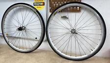 Pair Of 700c Bicycle Wheels Mavic Sup Cxp30 Rims Campagnolo Hubs QR #3578