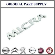 Genuine Nissan Rear Boot 'Micra' K12 Chrome Badge / Emblem New 90892AX600