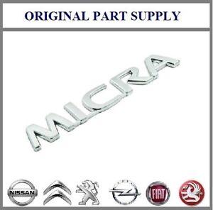 Genuine New Nissan Rear Boot 'Micra' K12 Chrome Badge / Emblem 90892AX600