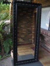 Large Full Length Wall Mirror Ornate Gloss Black Wood Frame 2Mx90cm FREE SYD DEL