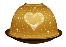 Light-Glow Heart Tealight Candle Holder Tea Light Votive Dome Ceramic Gift Boxed