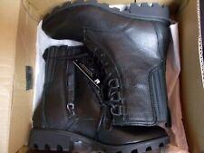 NIB Womens 8 Sorel Phoenix Lace Black Leather Waterproof Combat Boots New $190