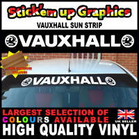 Vauxhall Sun Strip Astra Corsa Vxr Window Graphics Sticker Decal FREE SQUEEGEE