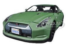 2008 NISSAN GT-R MATT GREEN 1/24 DIECAST CAR MODEL BY MOTORMAX 79506