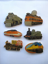 SALE RARE VINTAGE TRAINS STEAM TRAIN RAILWAY TVG SET PIN BADGE LOT BUNDLE SET X6
