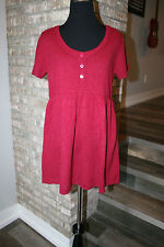 SO Womens Juniors Cranberry Red Short Sleeve Tunic Sweater SZ L NWT!