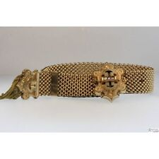 Victorian Yellow Gold Filled Waltz Bracelet W/ Seed Pearl Accents Circa 1850's -