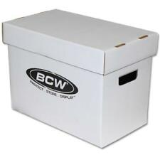 Lot of 5 BCW Magazine Storage Boxes - White Corrugated Cardboard - Standard