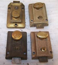 Vintage/Antique Brass Hardware: Lot of 3 Deadbolts Night Latch-Yale Ilco Other