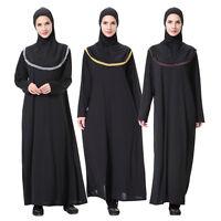 Dubai Abaya Jilbab Muslim Women Kaftan Dress+Hijab Islamic Cocktail Maxi Dress