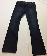 AFFLICTION Denim Cross Pyramid Metal Studs Jeans-Jade Black Bootcut 26