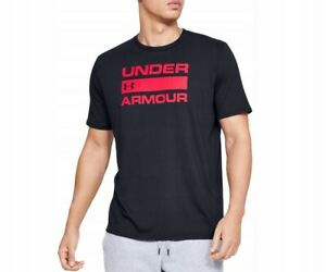 UNDER ARMOUR Charged Cotton Men's T-shirt Sports Top Cotton RUN Black Size L