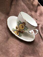 Queen Elizabeth II Coronation 1953 Windsor Bone China Tea Cup and Saucer Set