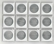 12 COKE COCA COLA DR. PEPPER SUNKIST WELCHS ZOO XMAS ADVERTISEMENT COINS TOKENS