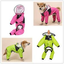 Pet Dog Raincoat Waterproof Clothes Jumpsuit Puppy Rain Jacket Dogs Suits Coat