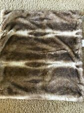 """POTTERY BARN Faux Fur Pillow Cover EURO Sham 26"""" x 26"""" - NEW Caramel Ombre"""