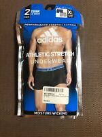 "ADIDAS Athletic Stretch 3.5"" Trunk 2-Pack Underwear sz XL X-Large Gray Blue"